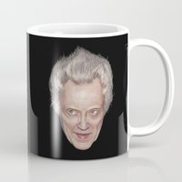 christopher walken Mugs featuring Christopher Walken by DigitalONI