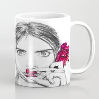cara Mugs featuring CARA  by Roxanne Jade Dentry