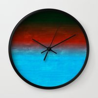 number Wall Clocks featuring Number 4 by Red Coat Studio Design