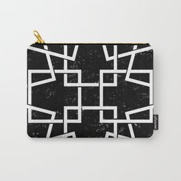 Black and White Minimalist Geomentric Carry-All Pouch