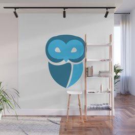 Blue Owl Wall Mural