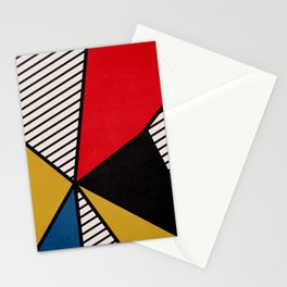 Primary Colors and Stripes Stationery Cards