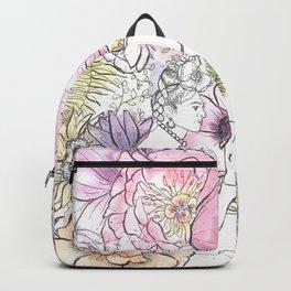 Open: Frida at her Easel (Color) Backpack