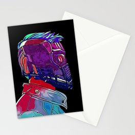 Star Lord Guardians of the Galaxy Avenger Infinity War Painting - Star-Lord Stationery Cards