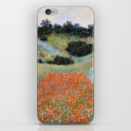 Poppy Field in a Hollow near Giverny by Claude Monet iPhone Skin