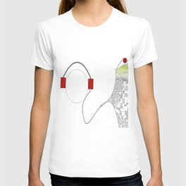 The Message in Musik T-shirt