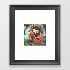 Dear Mother Deer Mother Framed Art Print