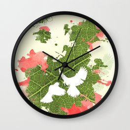 Leaf Bird Wall Clock