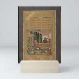 Abd al-Rahim - Farhad Before Khusraw (1595) Mini Art Print