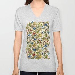 Embroidered Elizabethan / Jacobean Jacket Unisex V-Neck