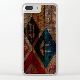 Rustic Textured Abstract Painting Clear iPhone Case