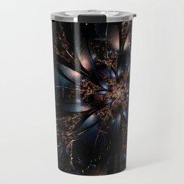 Molly Flower Fractal Manafold Art Travel Mug