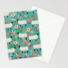 Suffolk Sheep farm floral cute animals sheep lover nature florals pattern homestead gifts Stationery Cards