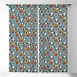 Cute fast food panda Blackout Curtain