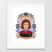 heymonster Framed Art Prints featuring Kathryn Janeway by heymonster