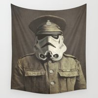 film Wall Tapestries featuring Sgt. Stormley  by Terry Fan