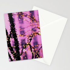 Gold On Pink Glass Stationery Cards