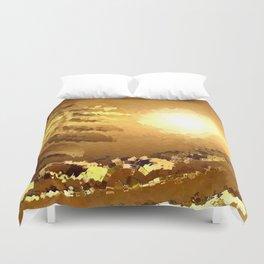 golden landscape. Duvet Cover