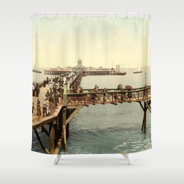 1890 Victorian Jetty in Margate Kent Shower Curtain