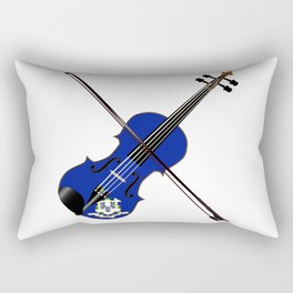 Connecticut State Fiddle Rectangular Pillow