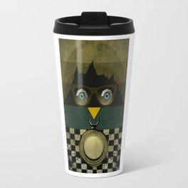 Owl of  Mountain Travel Mug