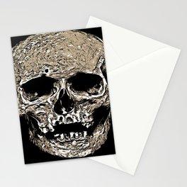 Full Skull With Rotting Flesh Vector Stationery Cards