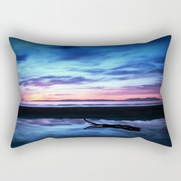 Sunset Over Troon Beach Rectangular Pillow
