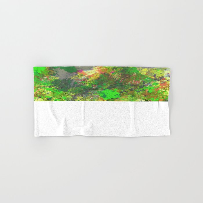 Jungle Of Colour - Multi Coloured Abstract Painting Hand & Bath Towel