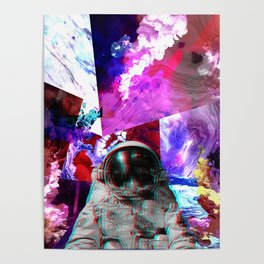 Retro Space Man Two Poster