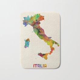 Italy Watercolor Map, Italia Bath Mat