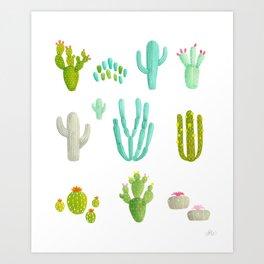 Cacti Party Art Print