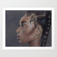 fka twigs Art Prints featuring FKA Twigs by annelise johnson