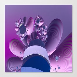 Abstract cactus blooming Canvas Print