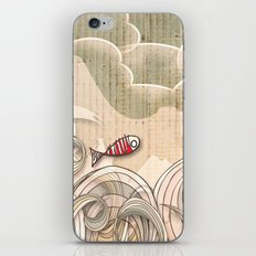 wave scape iPhone & iPod Skin