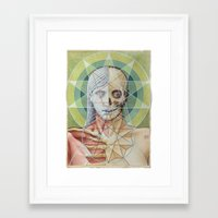 sacred geometry Framed Art Prints featuring Sacred Geometry by David Birkey