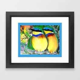 two bee eaters Framed Art Print