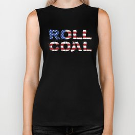 Roll Coal Truck American Flag USA Pride Biker Tank
