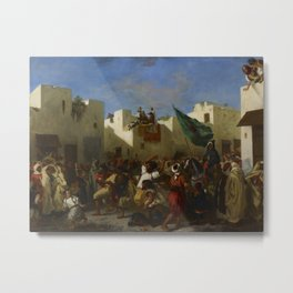 "Eugène Delacroix ""The Fanatics of Tangier"" Metal Print"