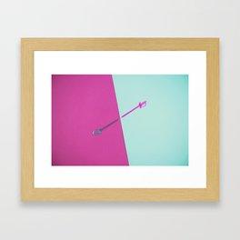 Magenta vs Cyan Framed Art Print