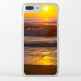 Sunset in the beach Clear iPhone Case