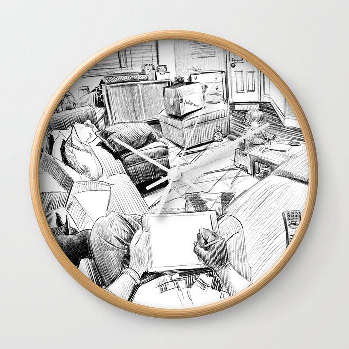 The Living Room Wall Clock By Paulheaston Society6
