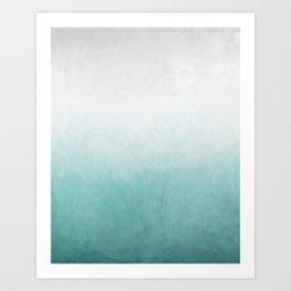 Sea foam haze Art Print