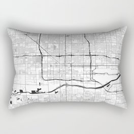 Phoenix Map Gray Rectangular Pillow