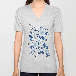 Blue Pandas Unisex V-Neck