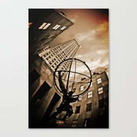 atlas Canvas Prints featuring Atlas by Chad Madden