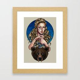 Goldilocks, Viking Bear Hunter Framed Art Print