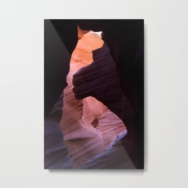 Slot Canyon Abstract in Red Metal Print
