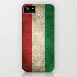 Old and Worn Distressed Vintage Flag of Hungary iPhone Case