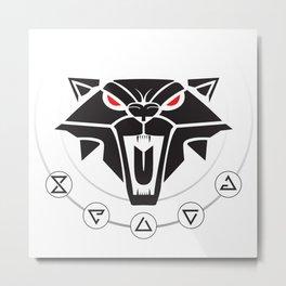 School of the Cat - Black Metal Print