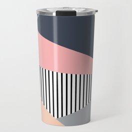 Colorful triangles design Travel Mug